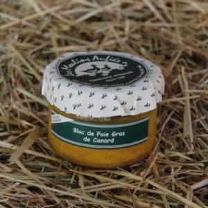 Bloc foie gras de canard conserve