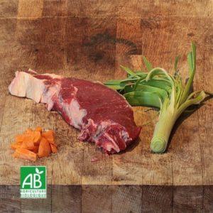 Paleron de bœuf bio en tranche