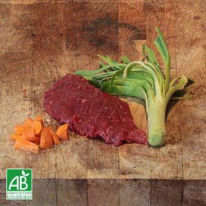 Steaks de bœuf bio au kg