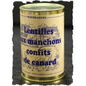 Lentilles au confit de canard (1170g)