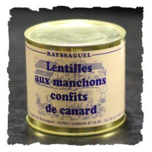 Lentilles au confit de canard (620g)