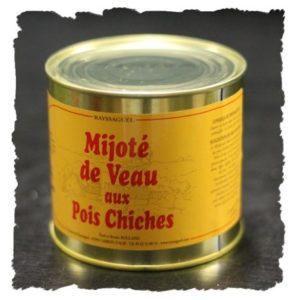 Mijoté de veau aux pois chiches (620g)