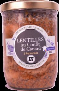 Lentilles au Confit de Canard