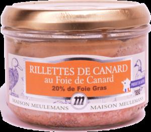 Rillettes de Canard au Foie de Canard, 20% foie gras