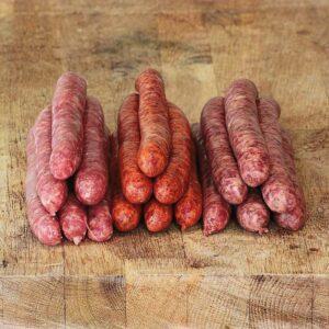 Colis de saucisse de boeuf bio pour barbecue